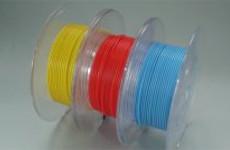 三種類の3Dプリンター用フィラメント